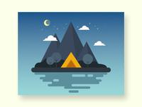 campsite vector illustrator illustration design