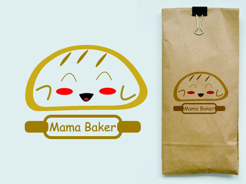 Design bread (Food) with Mockup mascot logo food logo food design food minimal flat logodesign bread designer designs mascot design mascotlogo logo design logo typography vector text logo design