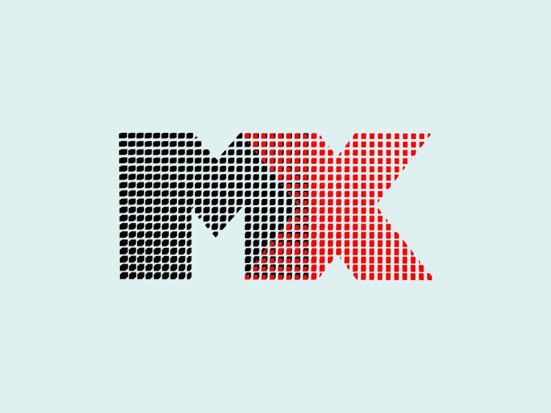 "Playoff ""DESIGN TO THE MX"" by Logitech. branding icon minimal illustration design"