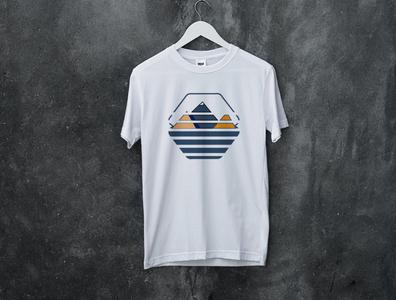Everest Mountain flat type minimal art vector illustration design