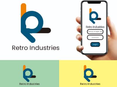 Retro Industries Logo logos branding logo