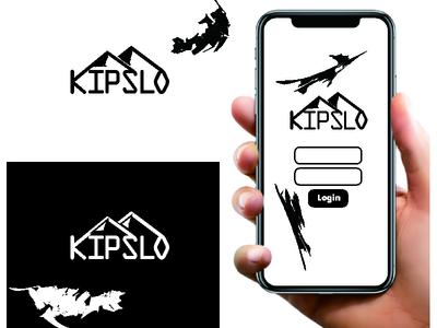 Kipslo Logo (Kisplo + Mountain) ux ui typography text logo minimal branding logo design