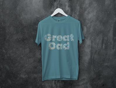 t-shirt Design Great dad t-shirt design flat vector typography text logo minimal illustration design