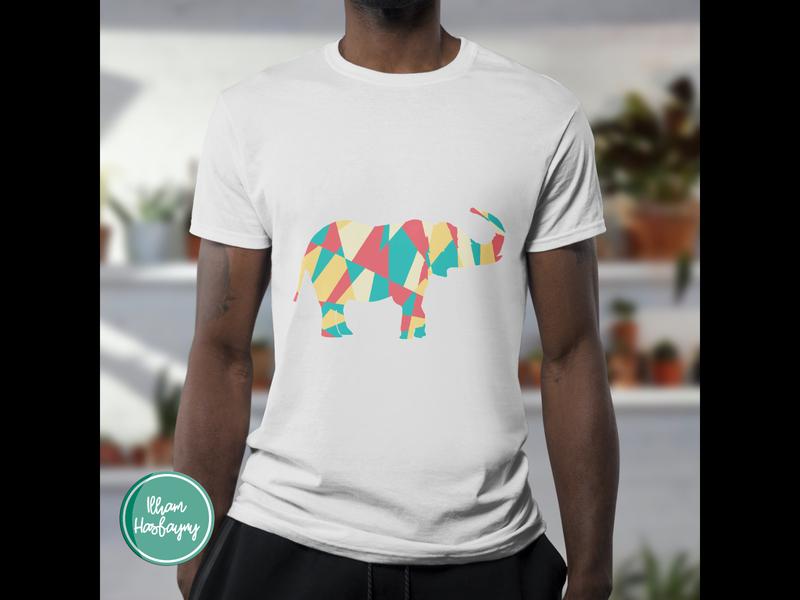 Funny T-shirt Elephant (T-shirt Design) design illustration t-shirt t-shirts t-shirt illustration t-shirt design colorful color retro funny signs funny