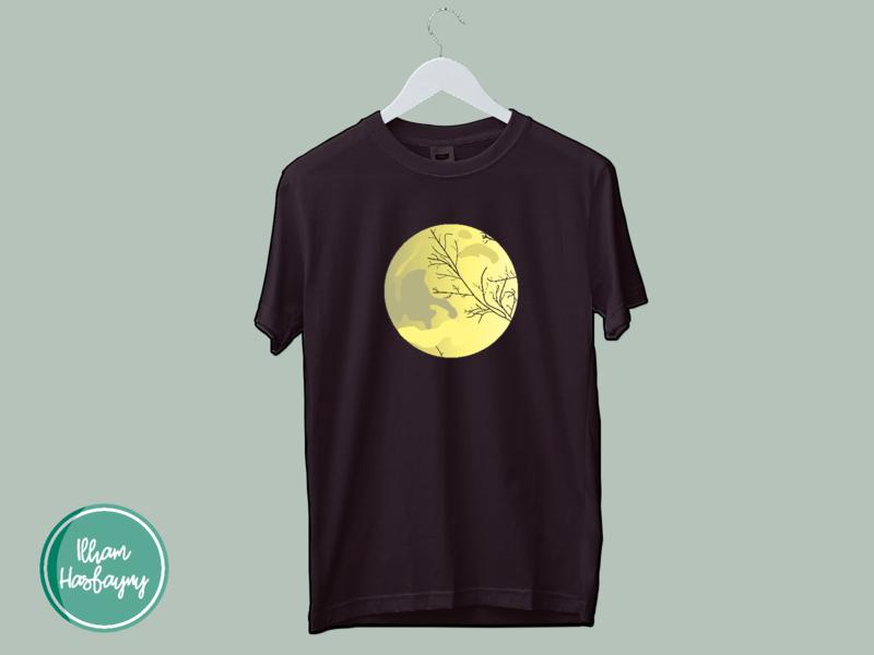 A Beautiful Moon (T-shirt Design) art vector typography minimal logo design spreadshirt redbubble shop t-shirt illustration t-shirt mockup t-shirt design t-shirts t-shirt