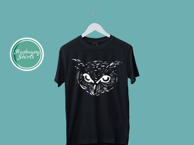 Owl (T-shirt) t-shirt vector t-shirt illustration t-shirts text logo typography t-shirt design logo illustration design