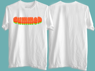 Summer minimal text logo branding typography t-shirt design logo illustration design