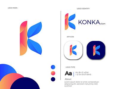 K letter logo agency logo branding design logo collection logo mark monogram minimalist logo dribbble best shot brand identity letter k logo concept logotype icon gradient colorful vector lettermark branding app icon logo abstract