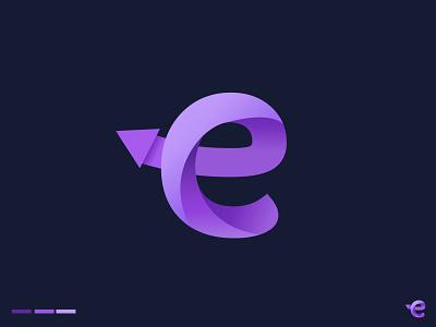 Letter E logo gradient logo logo trends 2021 logo redesign brand identity minimalist logo up logo arrow logo letter logo logo mark ux ui typography logodesign illustration abstract logo collection logo agency logo dribbble best shot logotype