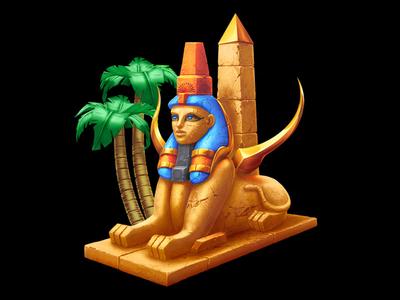 A Sphinx - social game character egypt themed slot egypt slot egypt themed sphinx slot sphinx illustration sphinx symbol sphinx design sphinx art sphinx graphic design gambling casino online slot design game design game art