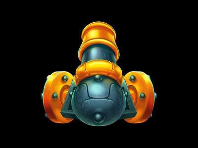A Cannon as a social game character casual game developers social game developers casual games social games character development character design characterdesign character gun symbol cannon symbol cannon gun online slot design game design game art