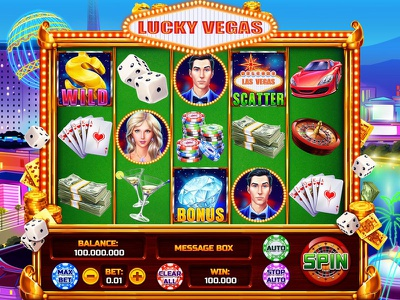 "The reel of the slot game ""Lucky Vegas"" vector graphics vector art slot machine art slot machine design slot game design slot game art vegas slot design vegas themed vegas slot vegas digital art graphic design slot design game art game design"