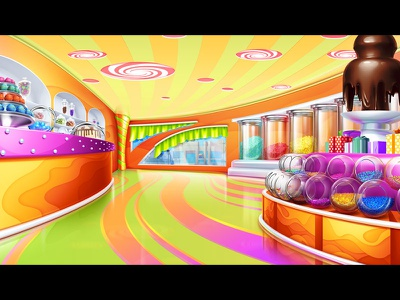 """Chocolate Cafe"" - slot game background background designer backgrounds background image background illustration game background background game background design background art background game slot digital art slot machine graphic design gambling slot design game design game art"