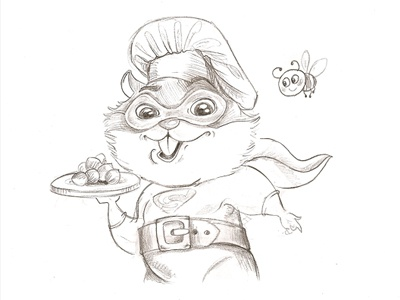 Hamsters foods game art pencil sketches concept art application game cute hamsters characters