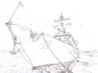 Navy bg sketch