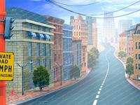 Background City Street