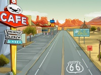 """Route 66""  - Background for the slot game"