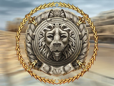Relief of the Lion of Roman Empire times as the slot symbol