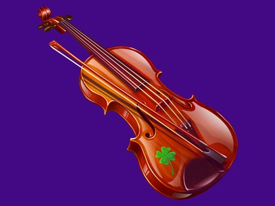 A Violin as an Irish musical symbol