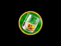 A glass of whiskey as a slot game symbol
