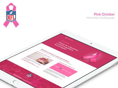 NFL Pink month landing page cancer breast month pink nfl