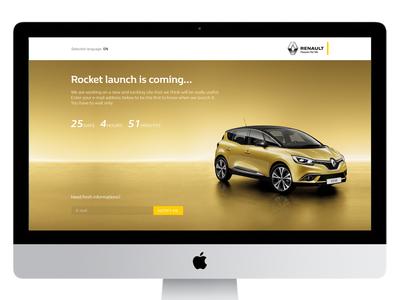 Renault countdown landing page responsive automitive car web page countdown landing renault