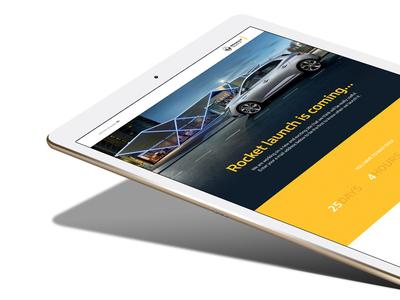 Renault countdown landing page 2 responsive automitive car web page countdown landing renault