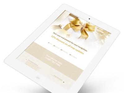 Newsletter landing 201612 - Christmas ui web design graphic responsive landing newsletter christmas