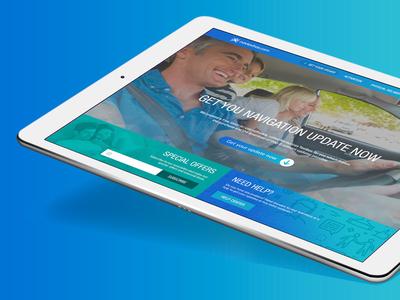 Naviextras Portal 4 home page design graphic ui web