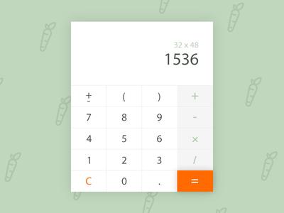 Calculator rabbit ui calculator dailyui