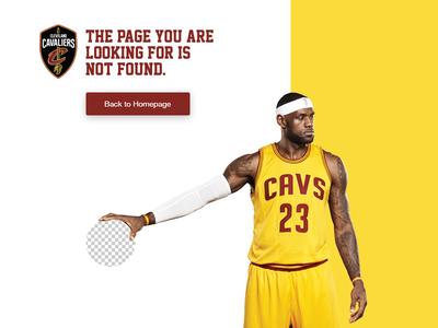 Cavs 404 page basketball ui nba cavs lebron dailyui