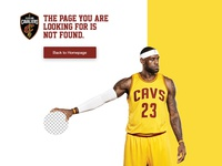 Cavs 404 page