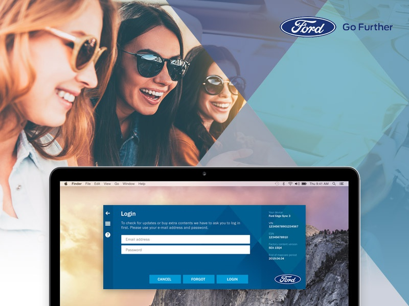 Ford Map Updater update navigation map application app mac pc ford automotive