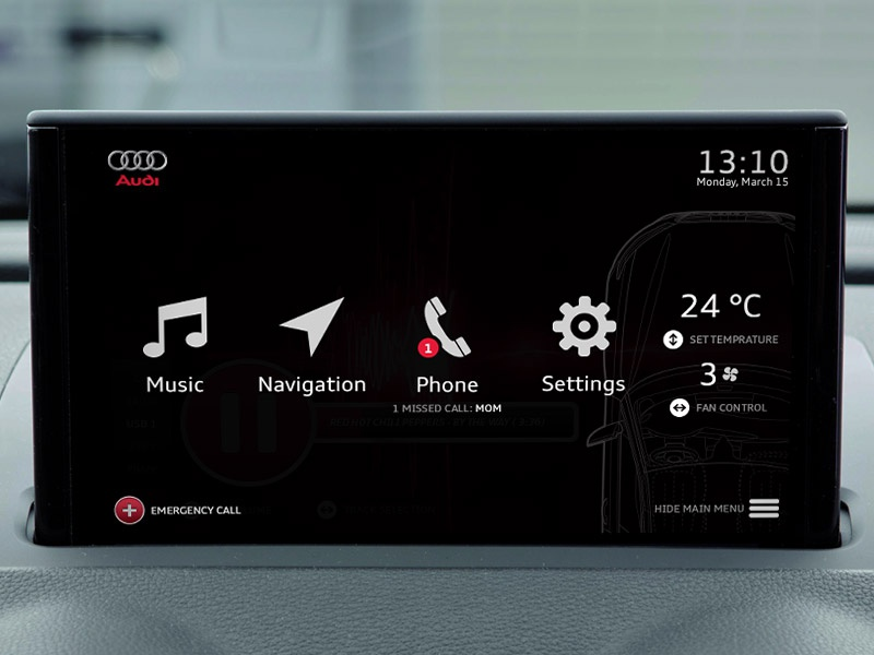 Audi infotainment system - Dashboard navigation application app dashboard infotainment car audi