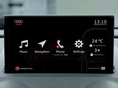 Audi infotainment system - Dashboard navigation application app dashboard infotainment car audi
