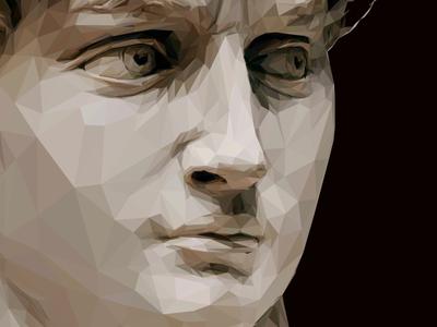 David lowpoly michelangelo polygon collage sculpture art illustration
