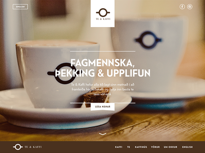 Coffee Shop frontpage
