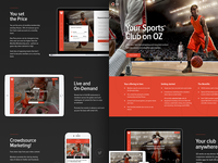 Oz - Landing page for sports