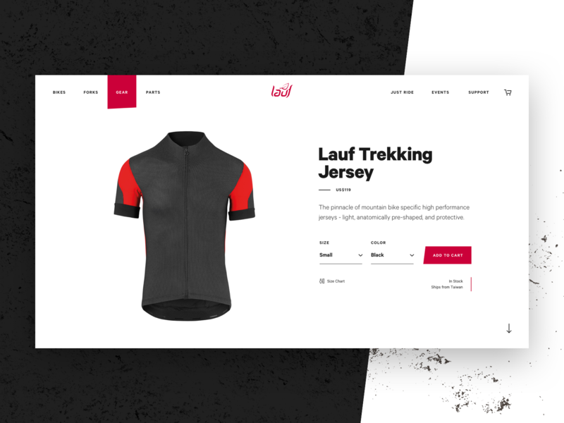 Lauf - Eshop Product website biking grunge shopify store product bike jersey bike
