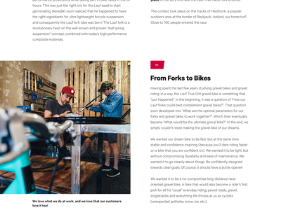 Lauf - Our Story bike biking story content gritty grunge website makers