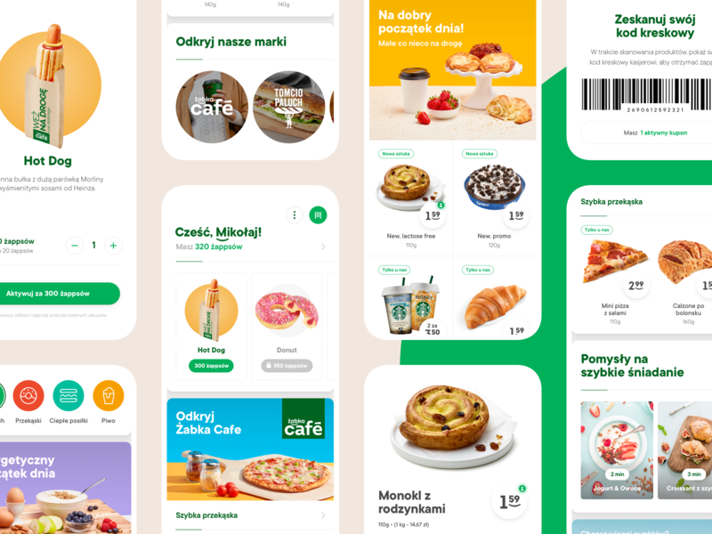 Żappka - Overview cards coupons café food products feed points ios app