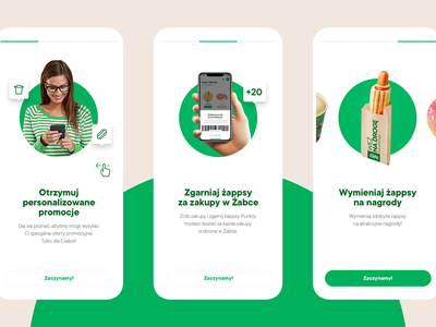 Żappka - Onboarding retail food products onboarding ios app