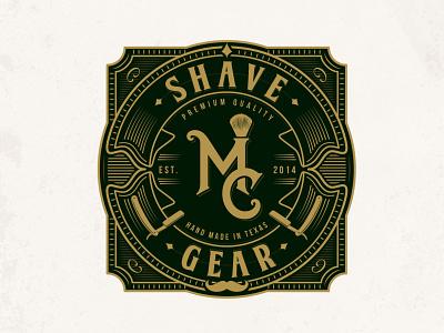 MC Shave Gear adobe illustrator sophisticated elegant classic retro vintage monogram brand identity lotion soap beauty cosmetics razor shaving