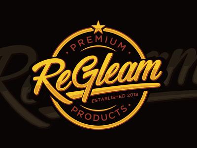 ReGleam adobe illustrator luxury sophisticated elegant typography retro classic shine logo design protector polish truck wash car wash star vintage cleaning cleaner