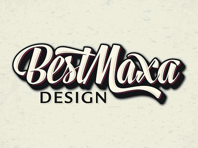 Best Maxa logo branding vintage adobe illustrator logo design nickname name design typography retro classic