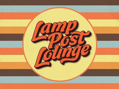 Lamp Post Lounge adobe illustrator food and drink logo design typography retro classic vintage live music nightclub bar lounge