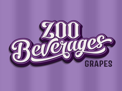 Zoo Beverages adobe illustrator logo design lemonade grapes power sport energy drink typography retro classic food and drink beverage zoo
