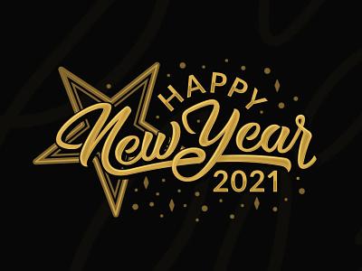 Happy New Year adobe illustrator luxury sophisticated retro typography classic logo design