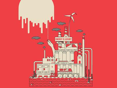 Clock is ticking ⏳ globalwarming minimal flat design illustration