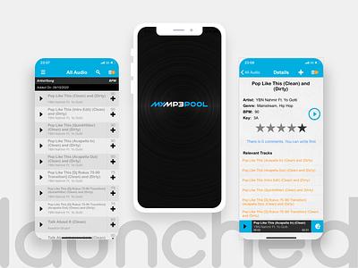 MyMp3Pool - DJ Catalogue of music & sound iphone app development company ios app development company android app design ux design ui  ux ui design mobile app design iphone app development ios app design android app development company